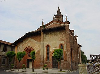 San Cristoforo sul Naviglio - The façade of the church.