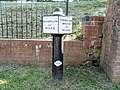 Milepost near Stafford Road Bridge, Stone.jpg