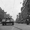 Militair parade en deflé. Pantserwagens op het Rokin, Bestanddeelnr 900-4684.jpg