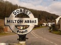 Milton Abbas, detail of village centre signpost - geograph.org.uk - 1752503.jpg