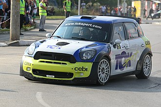 Super 2000 - Avci Yagiz and Gücenmez Bahadir (Turkey), with Mini Cooper S2000 1.6T LX61 BWO Toksport class RC2 in Rallye Bulgaria 2014