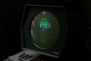 """Marvin Minsky - The Minskytron or """"Three Position Display"""" running on the Computer History Museum's PDP-1, 2007"""