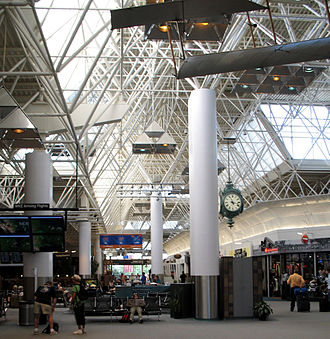 General Mitchell International Airport - Interior of main terminal