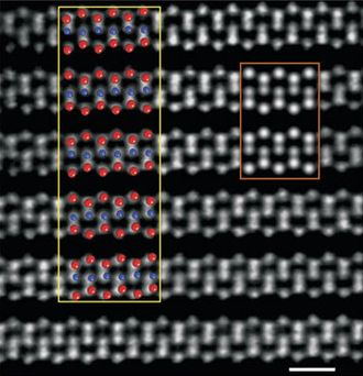 Molybdenum ditelluride - Image: Mo Te 2 STEM