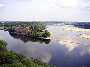 Rio V�stula em Modlin, Pol�nia