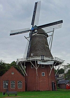 Hazewind, Gieten - Image: Molen De Hazewind Gieten
