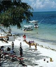 Mombasa's North Beach.