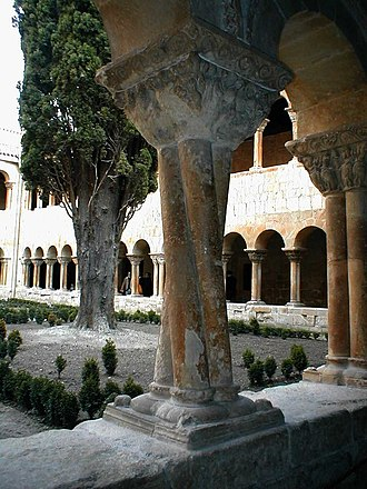 Abbey of Santo Domingo de Silos - Cloister with twisted columns