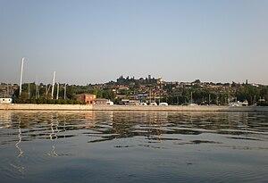 Moniga del Garda - Moniga and its harbor seen from the lake.
