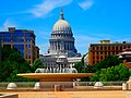 Monona Terrace Rooftop Fountain ^ the State Capitol - panoramio.jpg