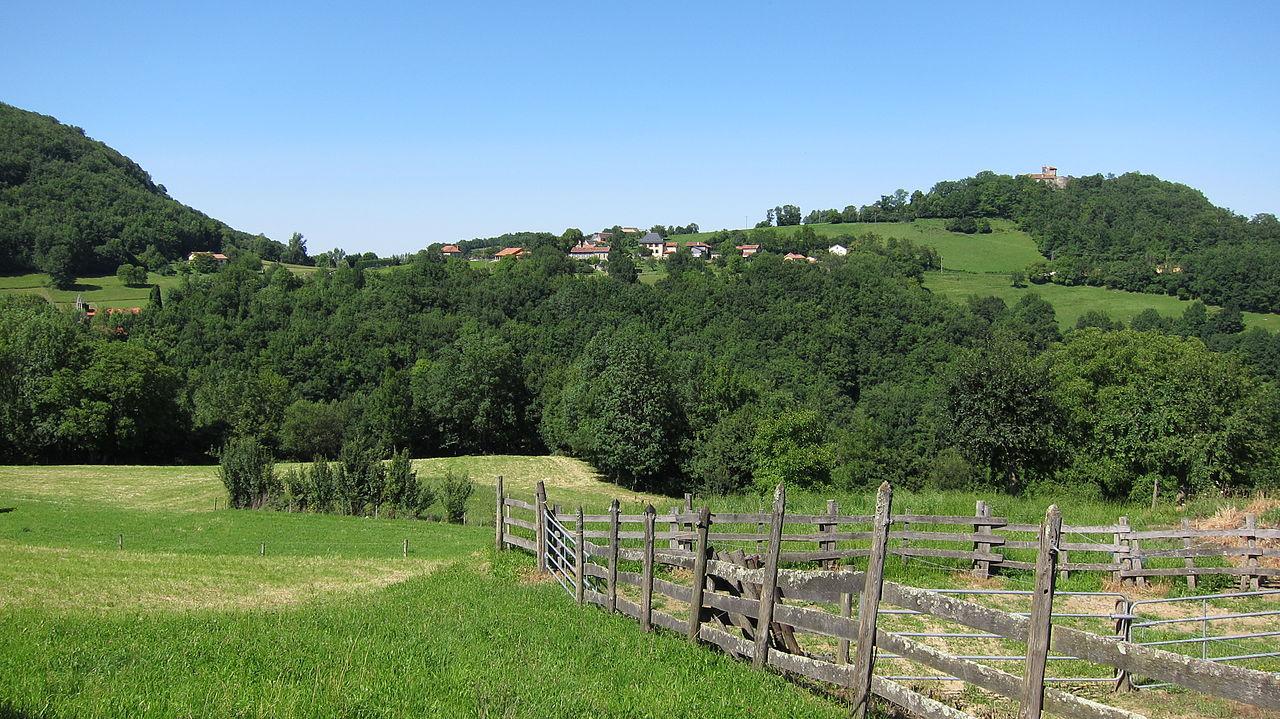 Le village vu depuis Ussau