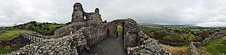 Montgomery Castle - Image: Montgomery Castle, Wales, 360° Panorama II
