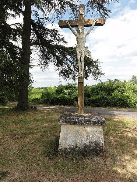 Montigny-Lengrain (Aisne) croix de chemin