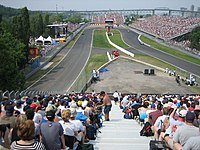 The annual Formula One Canadian Grand Prix on Île Notre-Dame.