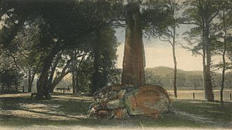 Stockbridge, Massachusetts - Indian Monument in 1905