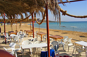 Morning beach near Mehmetcik (North Cyprus) 2003.jpg