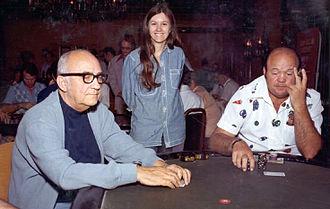 World Series of Poker - Johnny Moss, Becky Binion, and Puggy Pearson at the 1974 World Series of Poker.