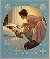 Mother Tucking Children Into Bed (Rockwell 1921).jpg