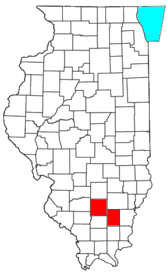 Mount Vernon, Illinois micropolitan area - Location of the Mount Vernon Micropolitan Statistical Area in Illinois