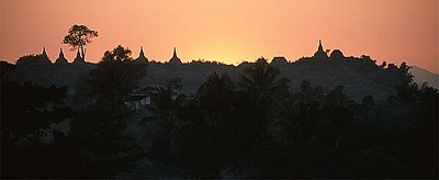 Mrauk U, the old capital of Rakhine in Myanmar
