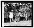 Mrs. Coolidge & raccoon (Rebecca), Easter egg rolling, 1927 LCCN2016842987.jpg
