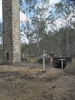Mount Clara smelter Heritage listed chimney in Queensland, Australia