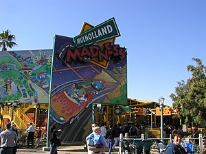 Goofy's Sky School - Goofy's Sky School's entrance when it was Mulholland Madness.