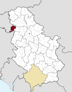 Location of the municipality of Šid within Serbia