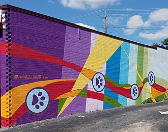 East Atlanta - Mural by Shannon Willow in East Atlanta