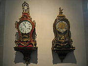 French rococo bracket clocks, (Museum of Time, Besançon)