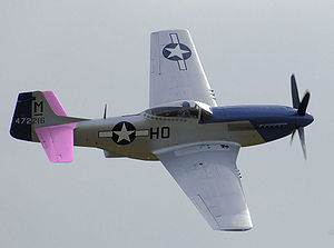 Tailplane - The tailplane of this P-51 is shown in pink.