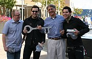 MxPx receiving keys to Bremerton from Mayor Cary Bozeman, September 2006.