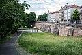 Nürnberg, Stadtbefestigung, Spittlertormauer, äußere Futtermauer 20170616 001.jpg