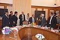 N. K. Singh, IAS with Shaktikanta Das, IAS; Dr. Ashok Lahiri, Dr. Anoop Singh, Dr. Ramesh Chand and Arvind Mehta, IAS.jpg