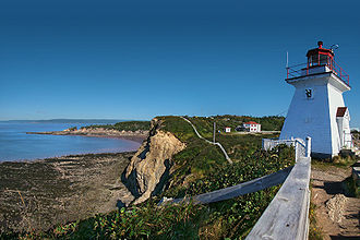Cape Enrage - Cape Enrage Lighthouse in panorama