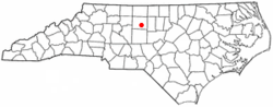 Location of Pleasant Garden, North Carolina