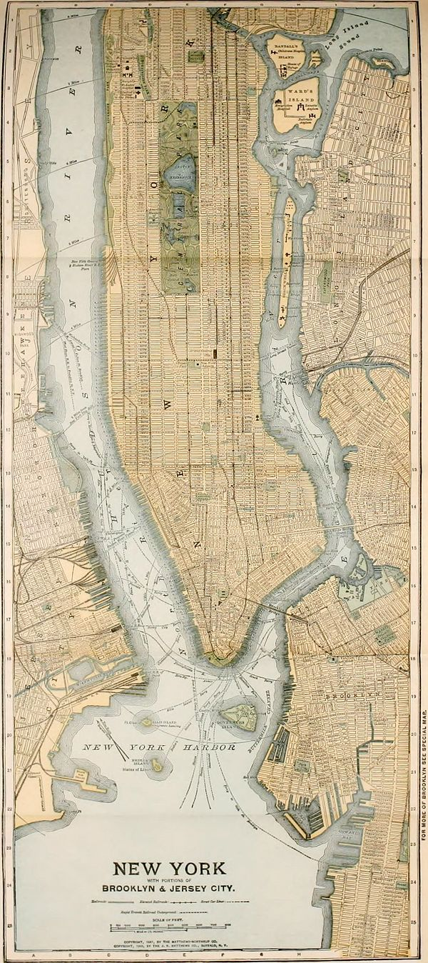 NIE 1905 New York (city) - map of NYC with portions of Brooklyn and Jersey City.jpg