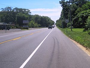 New Jersey Route 34 - Southbound Route 34 in Colts Neck Township along the two-lane section of the highway