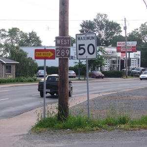 Nova Scotia Route 289 - Image: NS Route 289 New Glasgow