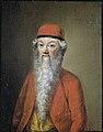 Naïef of karikaturaal portret van Jean-Etienne Liotard op ongeveer 54-jarige leeftijd Rijksmuseum SK-A-2656.jpeg