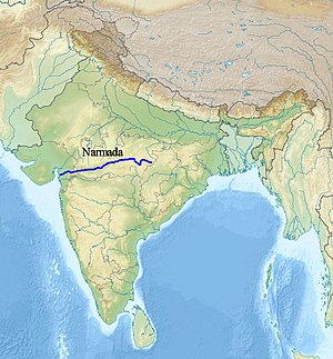 Narmada River - Image: Narmada river map