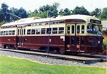 Photo of Toronto PCC streetcar 4603 at National Capital Trolley Museum in 2002.