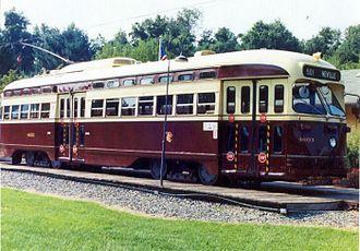 National Capital Trolley Museum - Toronto PCC streetcar 4603 at National Capital Trolley Museum in 2002.