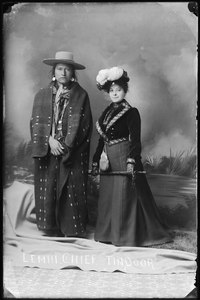 "Native Americans from Southeastern Idaho, ""Lemhi. Chief. Tindoor"" - NARA - 519297.tif"
