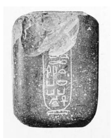 Jasper weight with the cartouche of Nebkaure Khety.