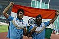 Neeraj Chopra(Gold Medalist) And Davinder Singh(Bronze Medalist) Of India.jpg