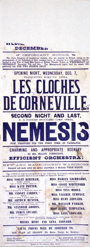 Les cloches de Corneville - 1898 Tasmanian production