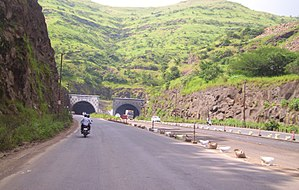 New Katraj Tunnel - Front view (going from Pune to Satara)