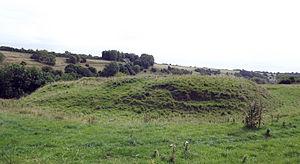 Ringwork - Surviving earthworks of the ringwork at Newington Bagpath, England