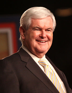 Newt Gingrich at a political conference in Orlando, Florida.